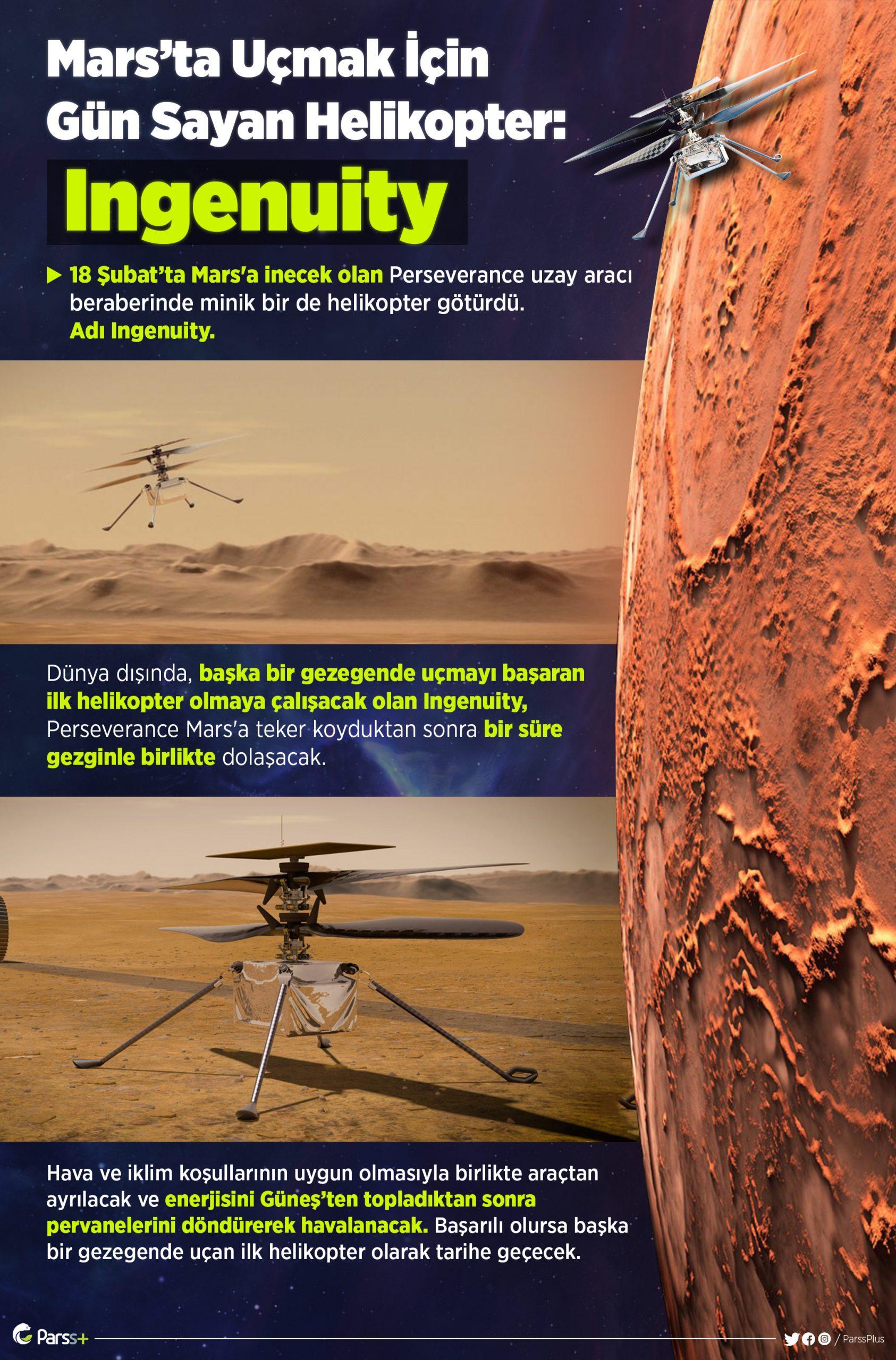 Mars'ta Uçmak İçin Gün Sayan Helikopter: Ingenuity