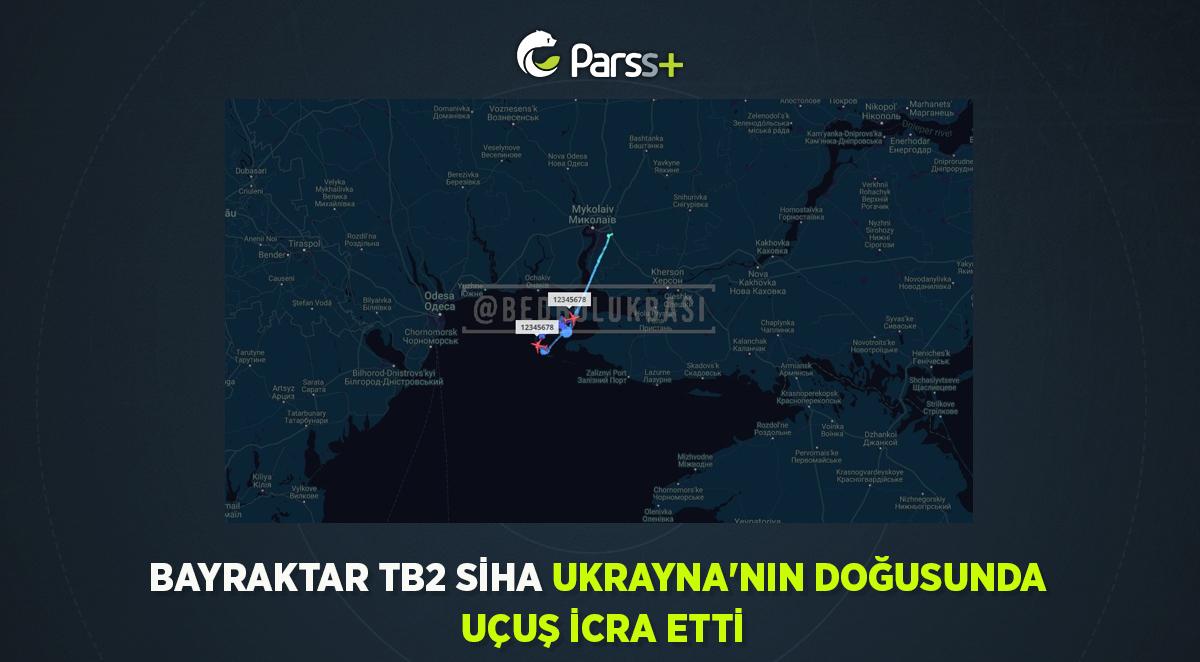 Bayraktar TB2 SİHA Ukrayna'nın doğusunda uçuş icra etti