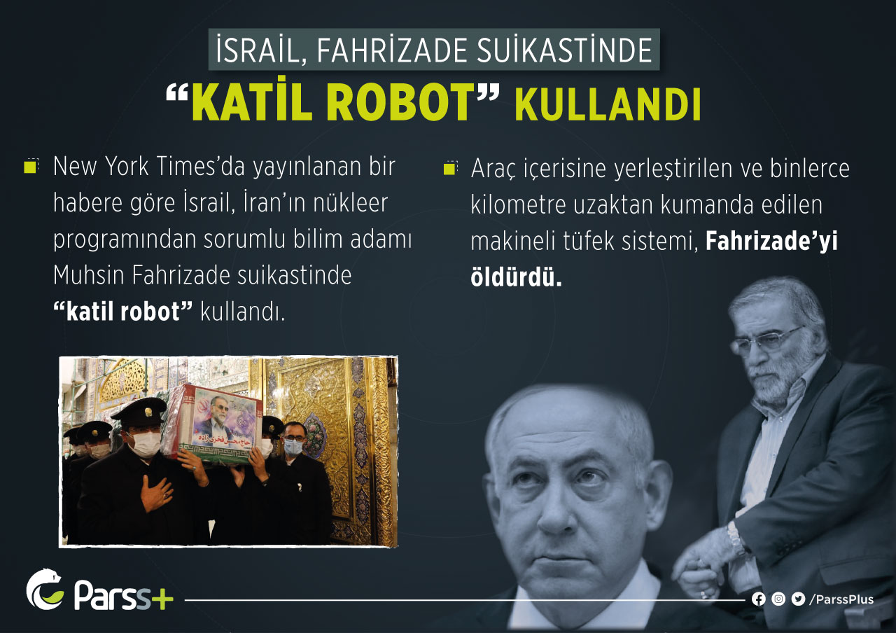 "İsrail, Fahrizade suikastinde ""katil robot"" kullandı"